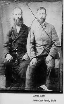 Alfred Cork (right)