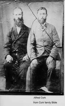 Alfred Cork (right)