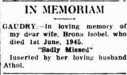 brona gaudry memoriam