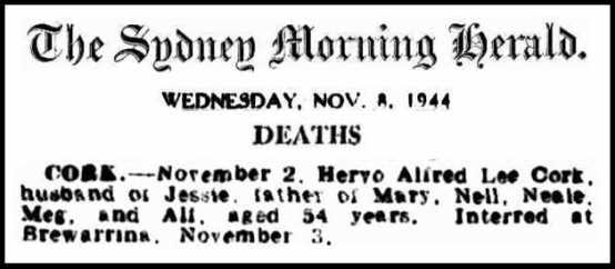 hervo a l cork death notice