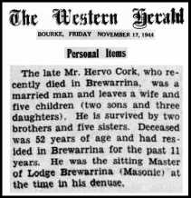 hervo a l cork obituary
