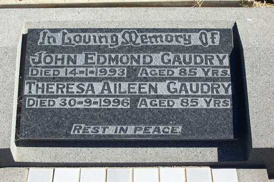 HS John and Theresa Gaudry