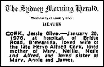 jessie o cork death notice