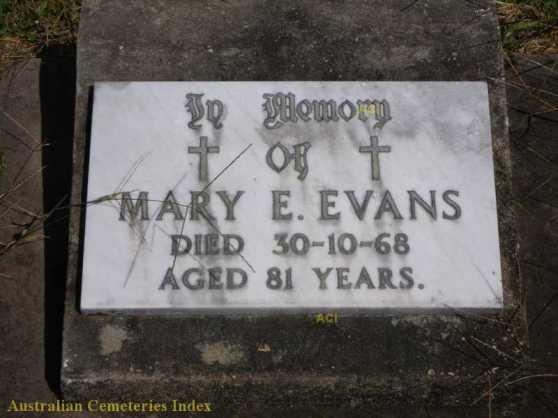 HS Mary E Evans