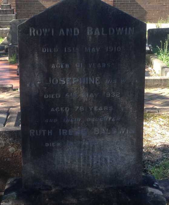 HS Baldwin Rowland Josephine and daughter