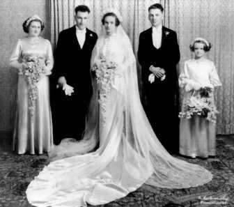 wilfred and doris ball briggs wedding