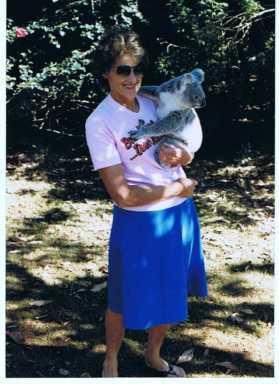maureen l fisher with koala