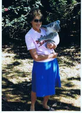 maureen l fisher with koala