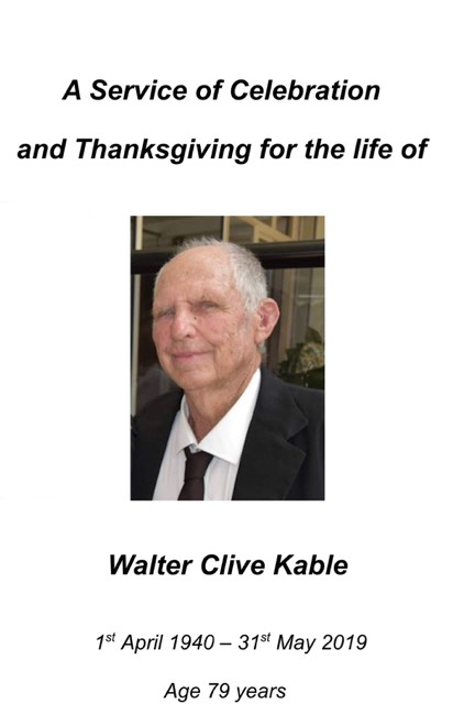This image has an empty alt attribute; its file name is walter-clive-kable-service-of-celebration.jpg
